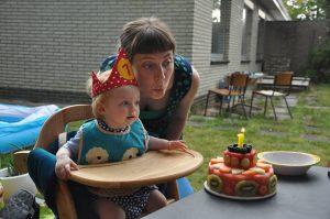 allergievrije eerste verjaardag taart